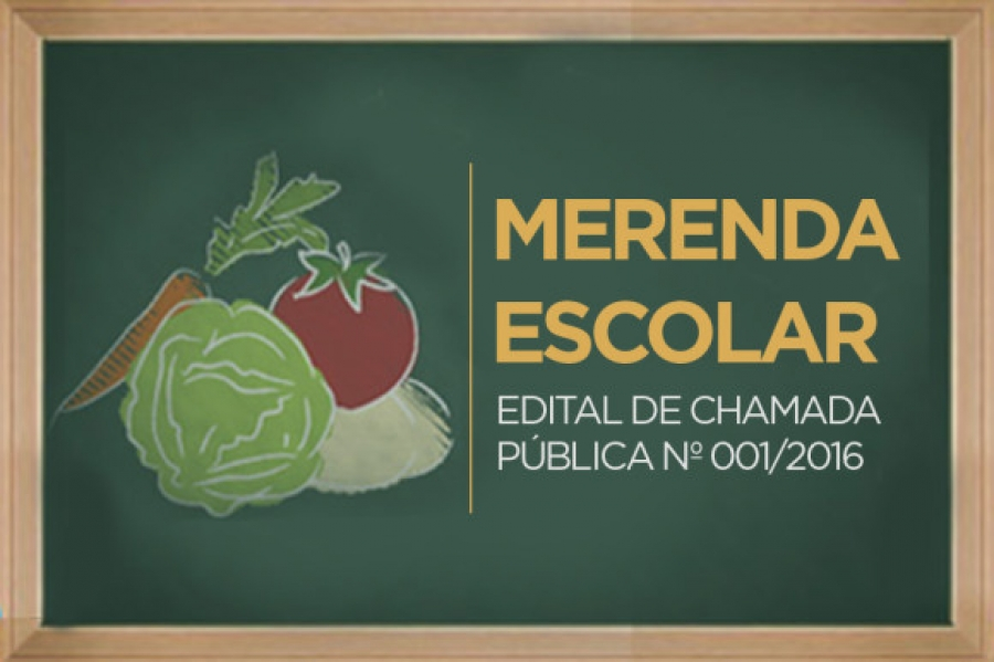 Edital de Chamada Pública Nº 001/2016 - Gêneros Alimentícios - Agricultura Familiar
